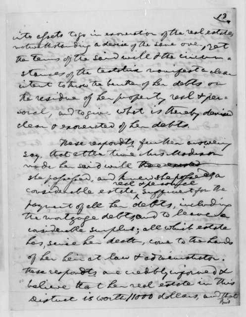 James Causten, November 27, 1850. Dolley P. Madison, Settlement of estate.