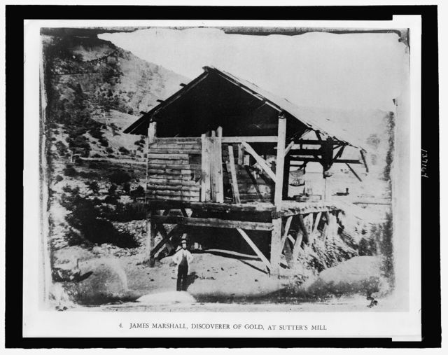 James Marshall, discoverer of gold, at Sutter's Mill