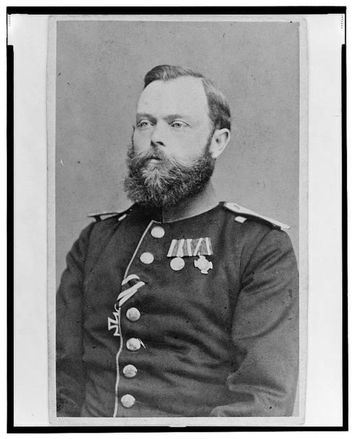 [Lieutenant Colonel Karl Friedrich Heinrich von Trebra, Union officer in the 32nd Indiana Regiment, half-length portrait, facing front] / Abtheilung für Portraits, Wilhelm Grundner.