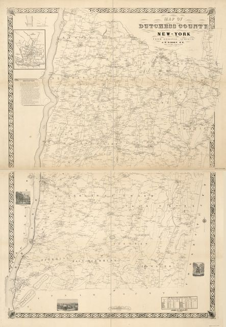 Map of Dutchess County, New-York : from actual surveys /