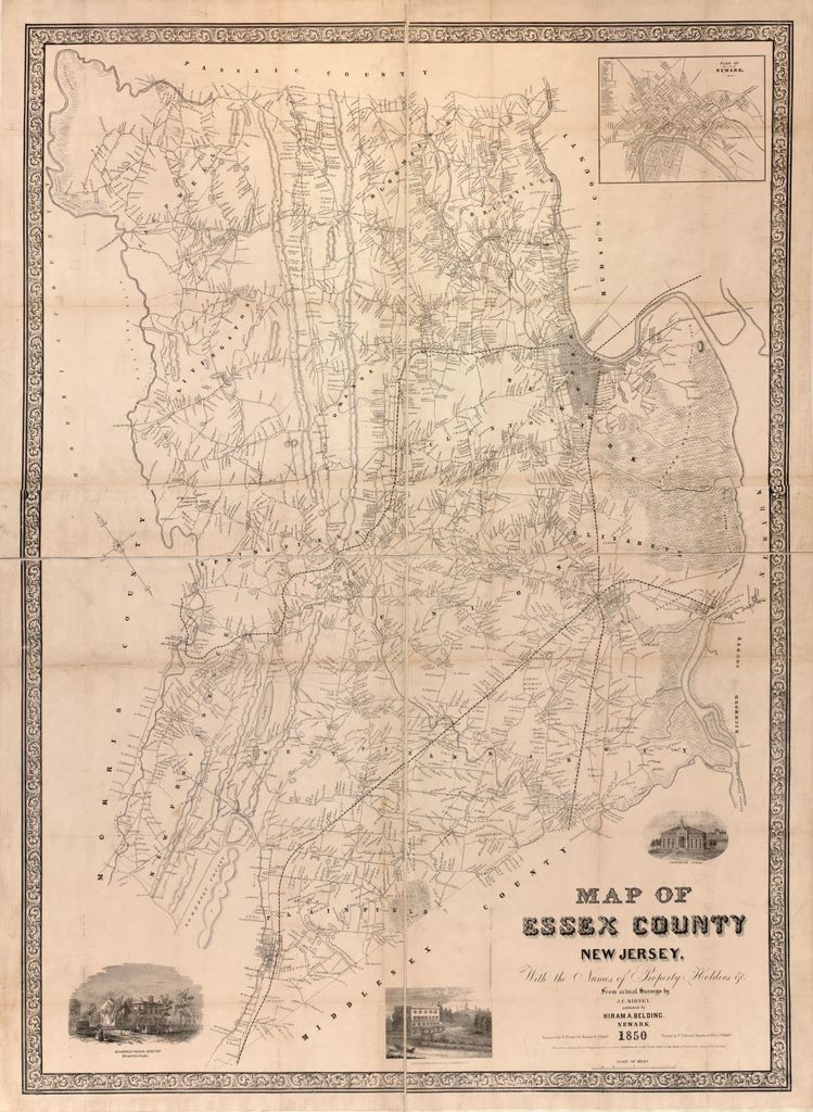 Map of Essex County, New Jersey : with the names of property holders &c. /