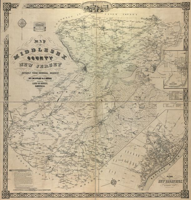 Map of Middlesex County, New Jersey /