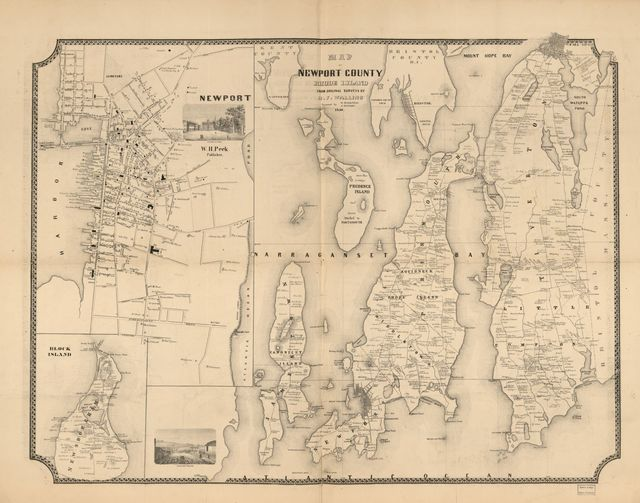 Map of Newport County, Rhode Island /