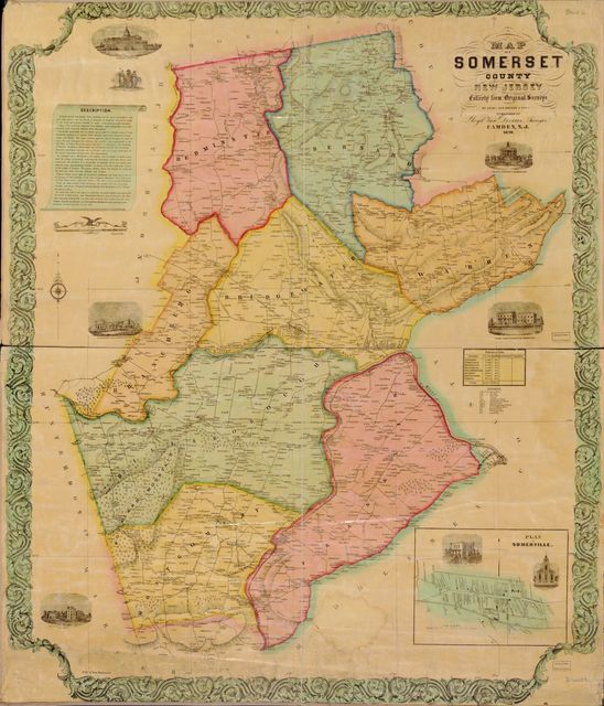 Map of Somerset County, New Jersey /
