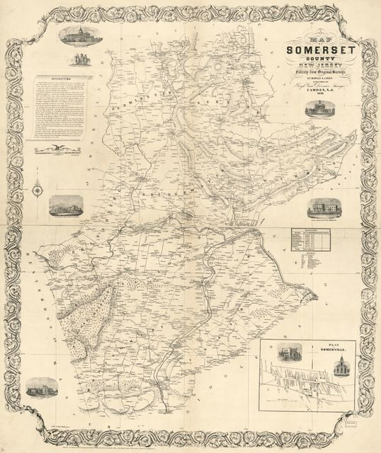 Map of Somerset County, New Jersey : entirely from original surveys /