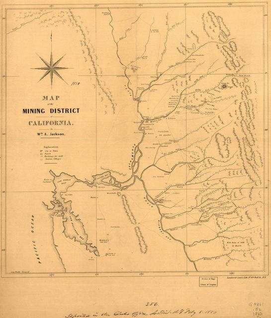 Map of the mining district of California.