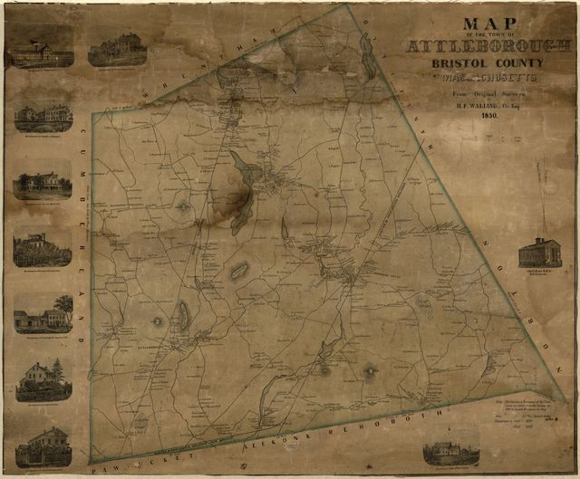 Map of the Town of Attleborough, Bristol County, Massachusetts /
