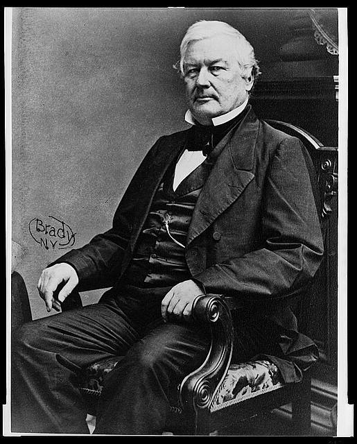[Millard Fillmore, three-quarter length portrait, seated, facing left] / Brady, N.Y.