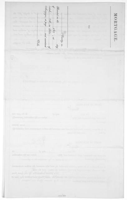 Mortgage [printed form] Rochester [N.Y.] Smith, Benton & Co. [185-].