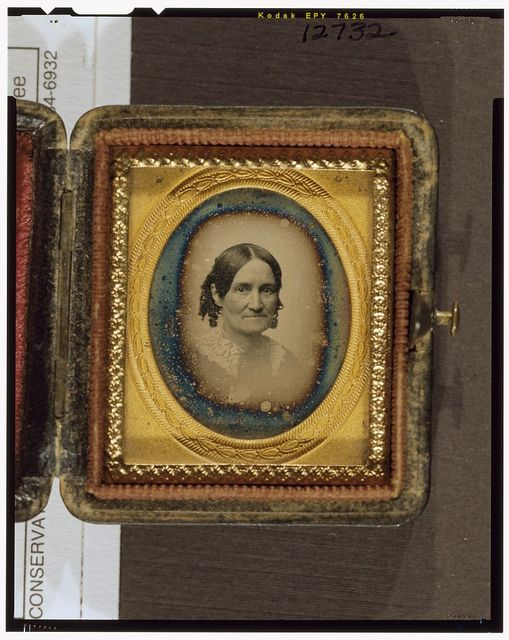 [Mrs. Stevens Everett, bust-length portrait, facing right]