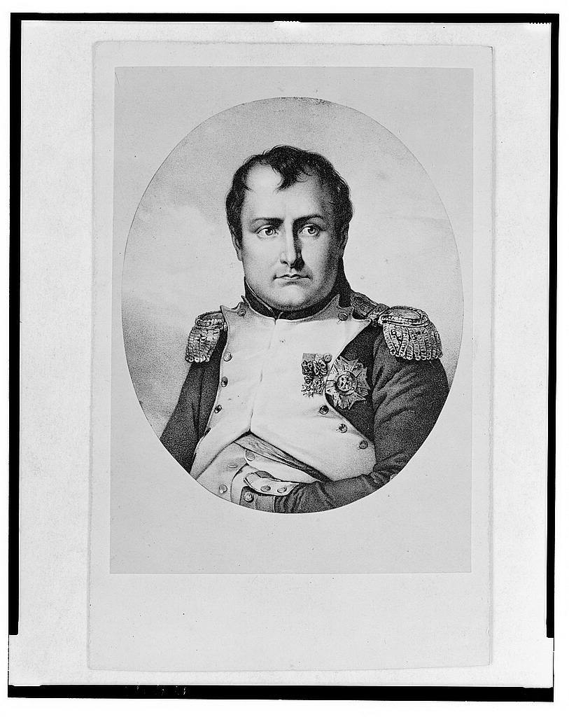 [Napoleon I, head-and-shoulders portrait, facing front]