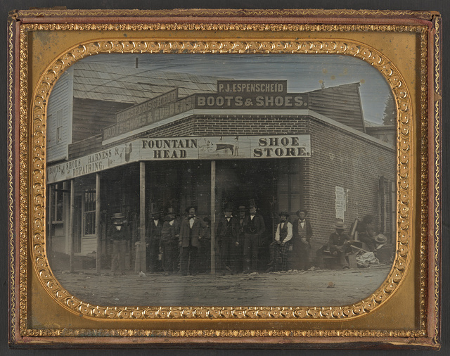 [P. J. Espenscheid store, Nevada City, California]