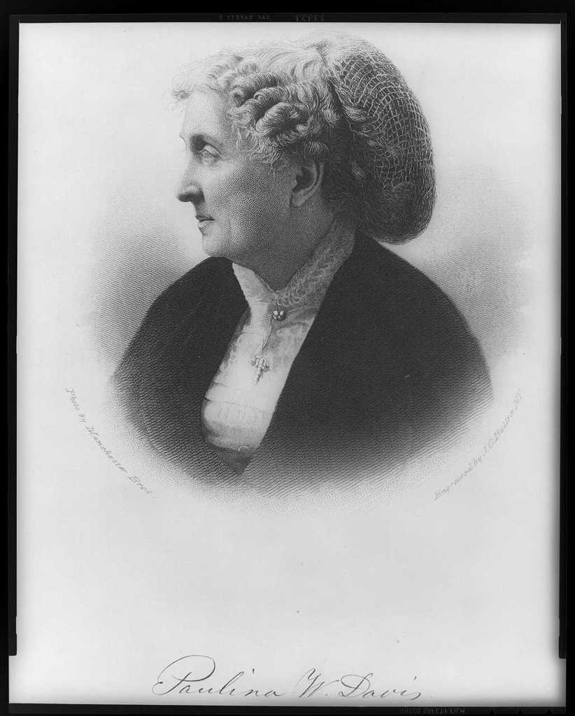 Paulina W. Davis / photo. by Manchester Bros. ; engraved by J.C. Buttre, N.Y.