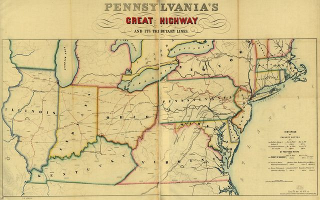 Pennsylvania's great highway and its tributary lines.