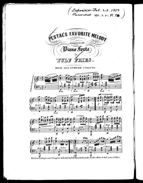 Pestal's favorite melody