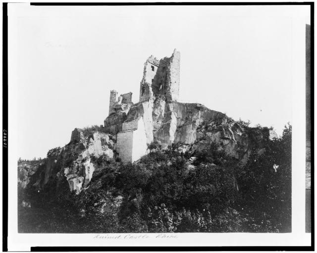 Ruined castle. Rhine