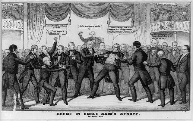 Scene in Uncle Sam's Senate. 17th April 1850