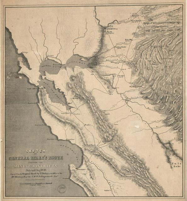 Sketch of General Riley's route through the mining districts [of California] : July and Aug. 1849 /