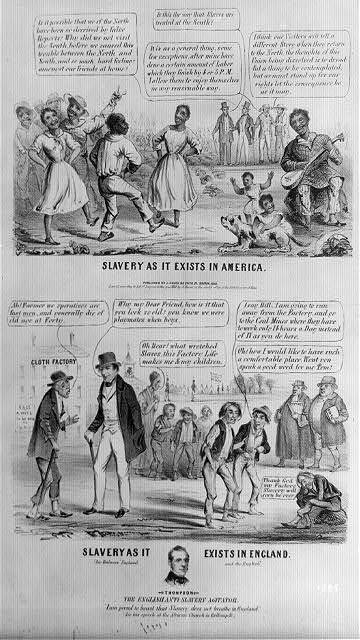 Slavery as it exists in America. Slavery as it exists in England