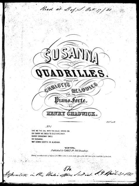 Susanna quadrilles, no. 1