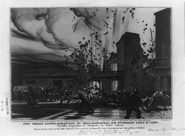 The great conflagration in Philadelphia on Tuesday July 9th 1850