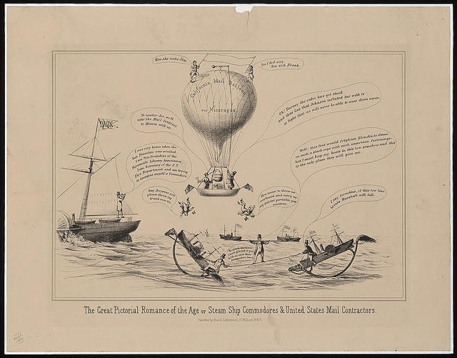 The great pictorial romance of the age, or, steam ship commodores & United States mail contractors