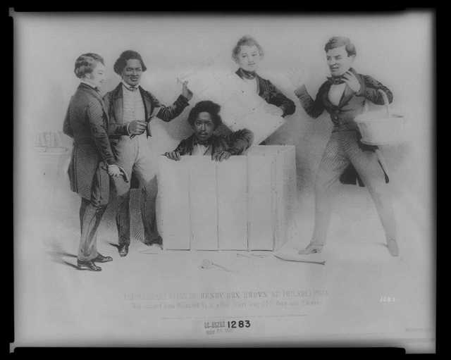 The resurrection of Henry Box Brown at Philadelphia, who escaped from Richmond Va. in a bx 3 feet long 2 1/2 ft. deep and 2 ft wide