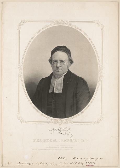 The Rev. M.J. Raphall, D.D. / lith. by F. D'Avignon, 323 Broadway ; P. Haas' Daguerpe. 289 Broadway, N.Y.