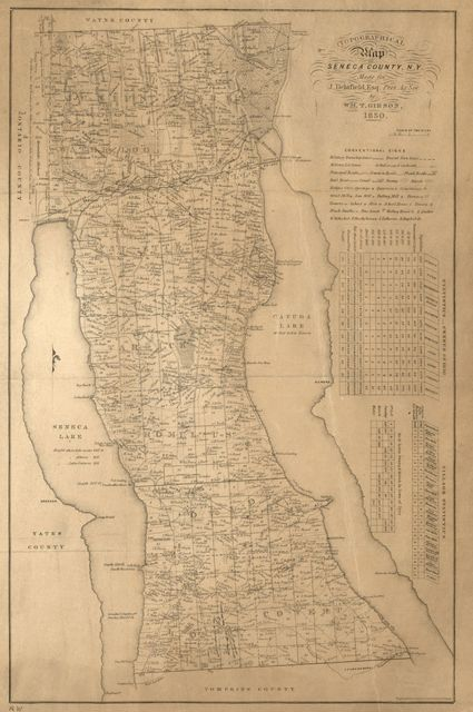 Topographical map of Seneca County, N.Y. /