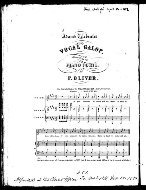 Adam's celebrated vocal galop