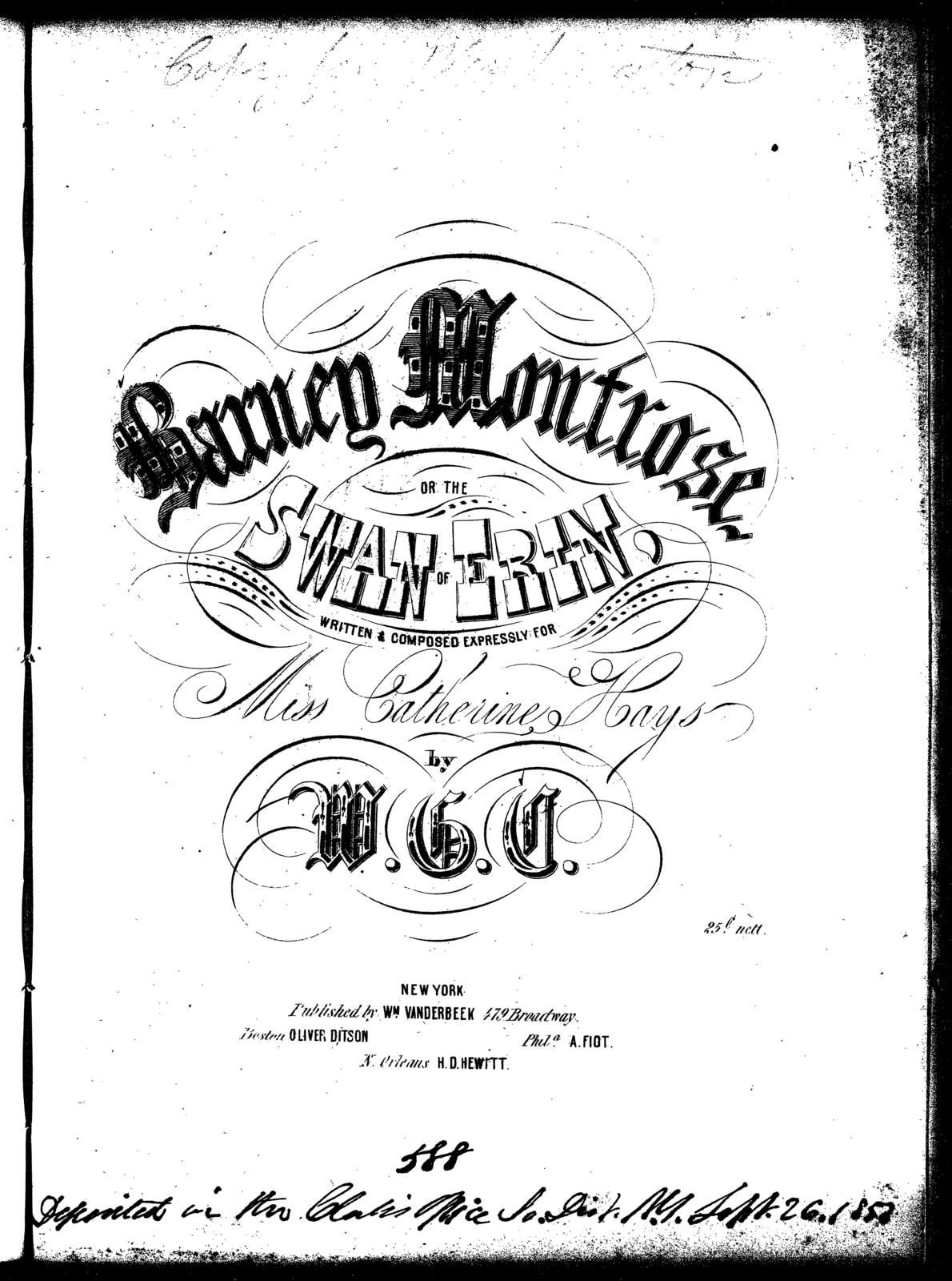 Barney Montrose, or, The swan of Erin