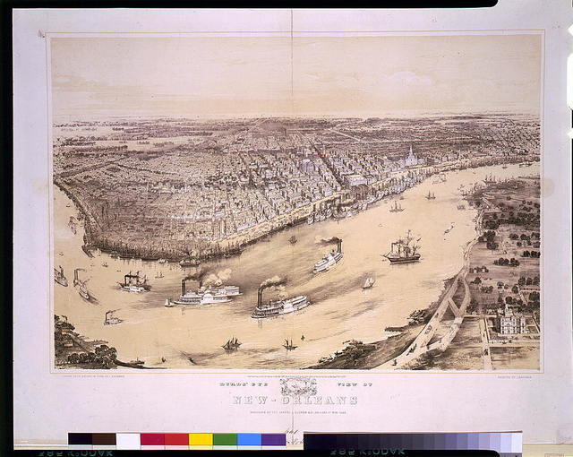 Birds' eye view of New-Orleans / drawn from nature on stone by J. Bachman [i.e., Bachmann].