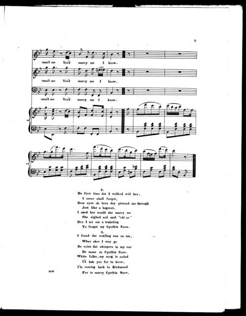 Cynthia Snow, an Ethiopian melody