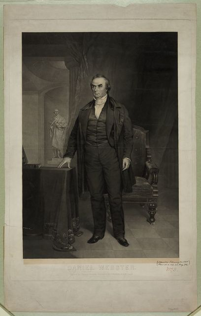Daniel Webster / painted by Chester Harding ; engraved by J. Andrews & H.W. Smith.