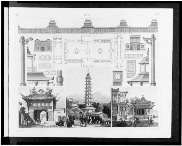 [Details of Chinese architecture] / G. Heck, dirt. ; Henry Winkles, sculp.