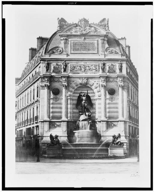 [Fountain de Saint Michael] / E. Baldus.