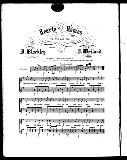 Hearts and homes, a ballad