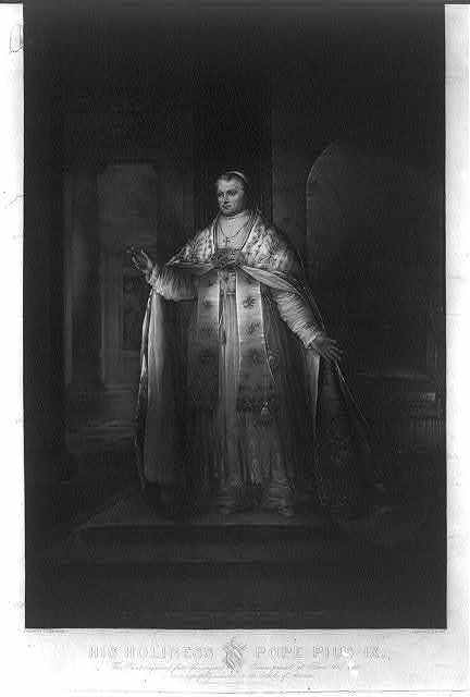 His holiness Pope Pius IX / painted by Joseph Ames ; engraved by H. W. Smith.