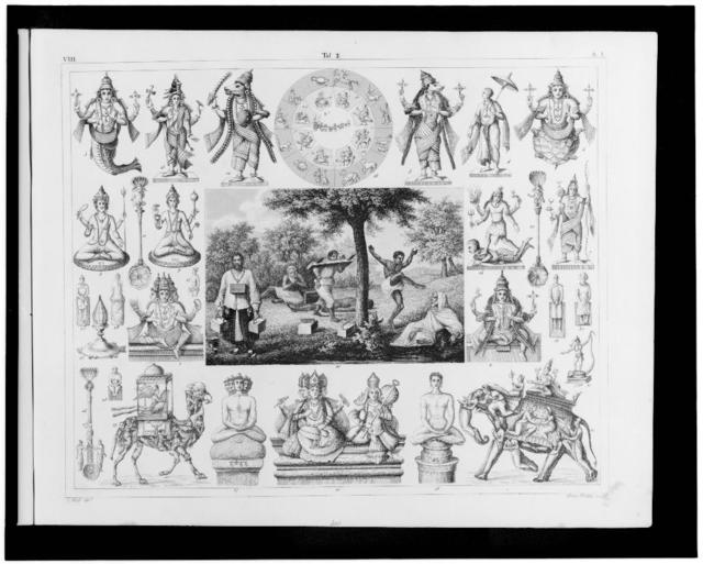 [Images of Hindu cosmogony and gods] / G. Heck, dirt. ; Henry Winkles sculp.