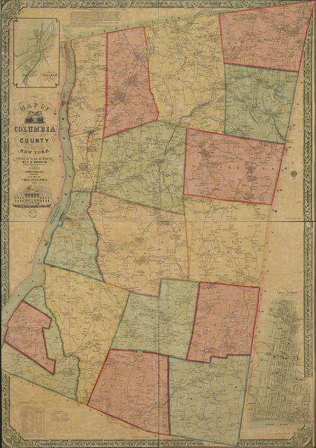Map of Columbia County, New York : from actual surveys /