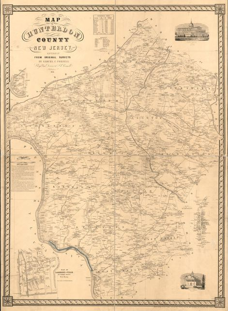 Map of Hunterdon County, New Jersey : entirely from original surveys /