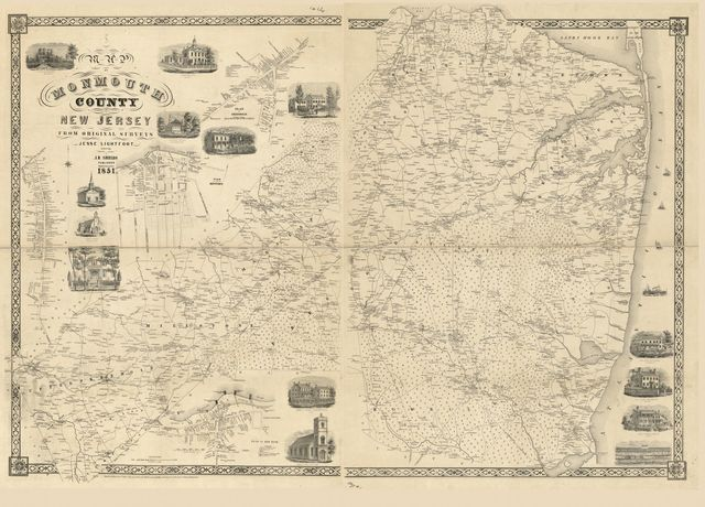 Map of Monmouth County, New Jersey : from original surveys /