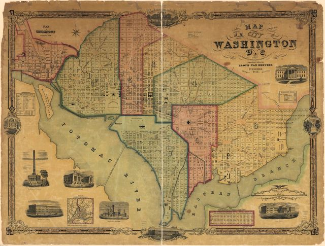 Map of the city of Washington D.C. : established as the permanent seat of the government of the U.S. of Am. /
