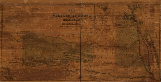 Map of the Western Vermont Rail Road and connecting lines, Wm. B. Gilbert, Chief Engineer.