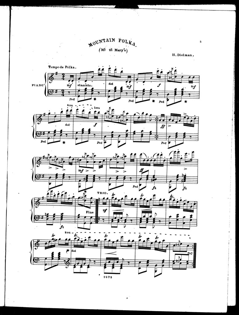 Maryland polkas: De Beriot polka -- Valley polka -- Reform polka -- Mountain polka