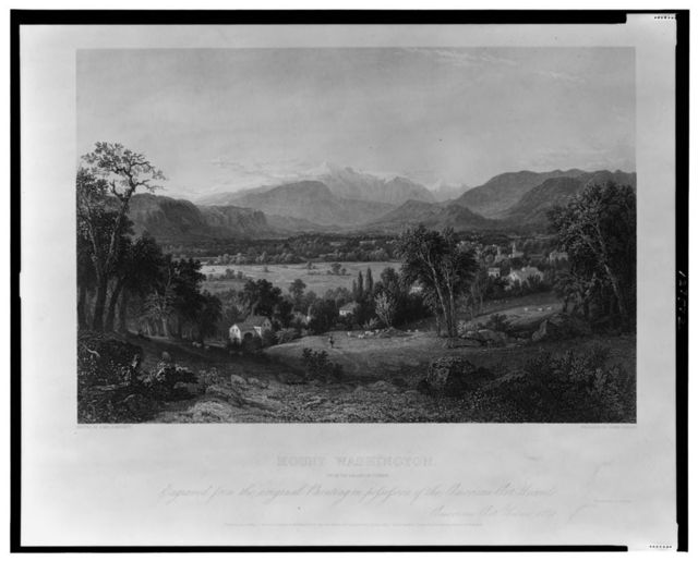 Mount Washington from the Valley of Conway / painted by John F. Kensett ; engraved by James Smillie.