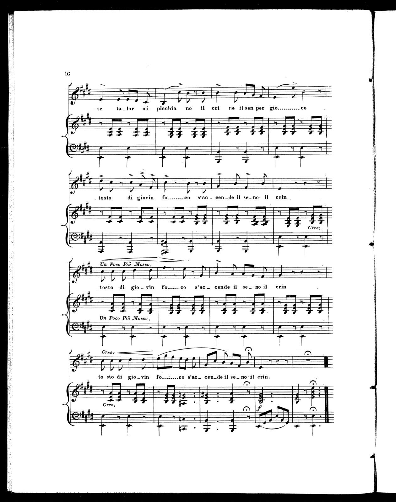 Musical album: Scherzo; Gli occhi tuoi; Passatempo; Duetto il fiore