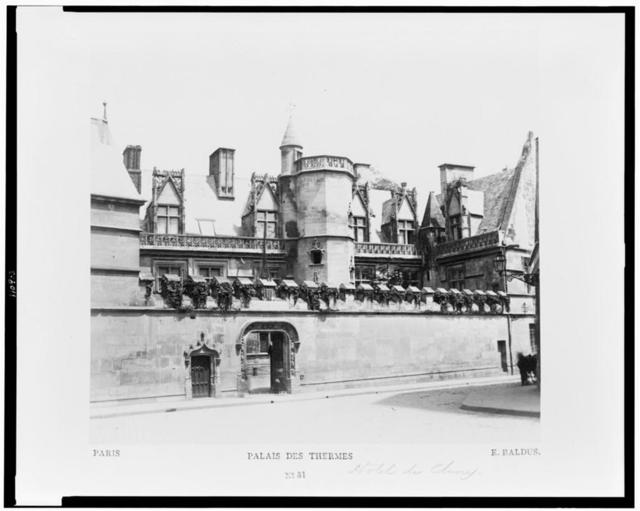 Paris. Palais des Thermes / E. Baldus.