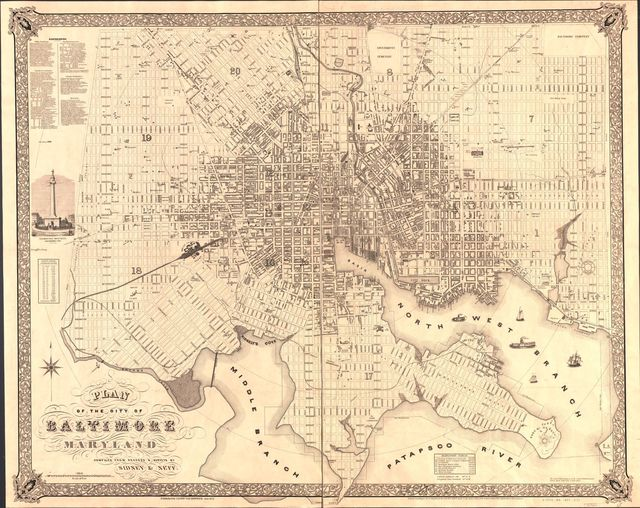 Plan of the city of Baltimore, Maryland /