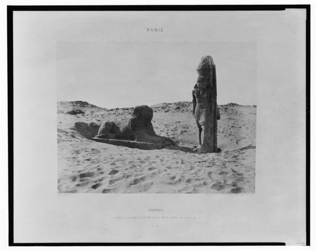 Séboûah - temple - colosse et sphinx de la partie gauche de l'avenue / FT [monogram] Félix Teynard phot.